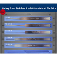 GALAXY Tools Stainless Steel Ultrathin Model File Stick