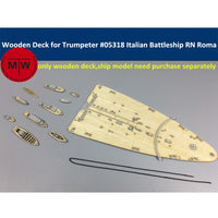 TMW 1/350 Wooden Deck for Trumpeter 05318 Italian Navy Battleship RN Roma Model