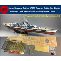 TMW Super Upgrade Set for 1/350 German Battleship Tirpitz Kit- Tamiya 78015/Trumpeter 80602