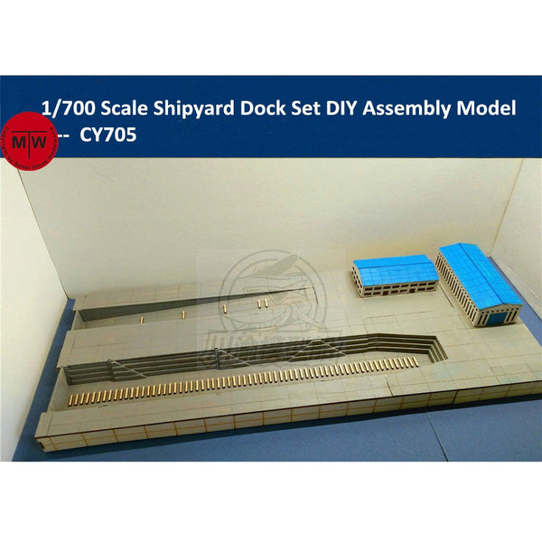 1/700 Dockyard Diorama Base With Slipway and Buildings
