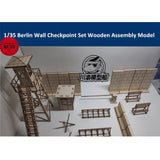 1/35 Berlin Wall Checkpoint Diorama Wooden Kit