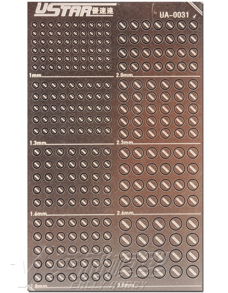 U-STAR Photo-Etched Detail Parts UA-0031 - UA-0049