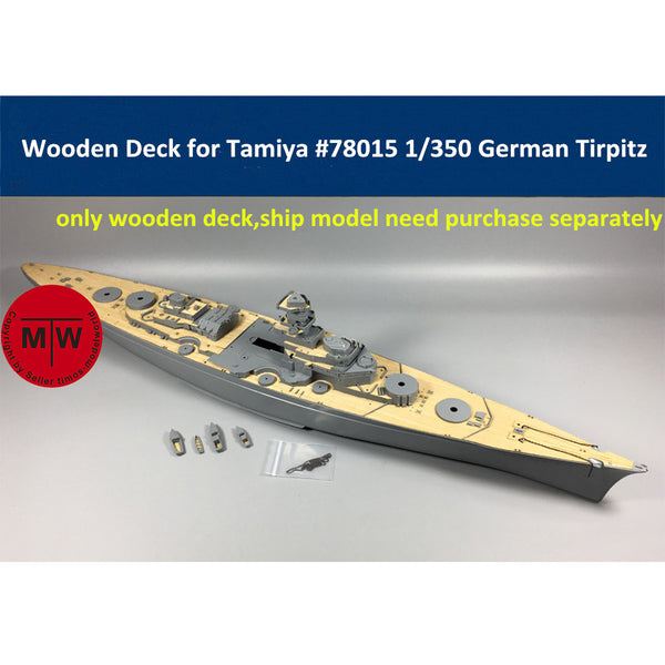 TMW 1/350 Wooden Deck for Tamiya 78015 German Battleship Tirpitz Model