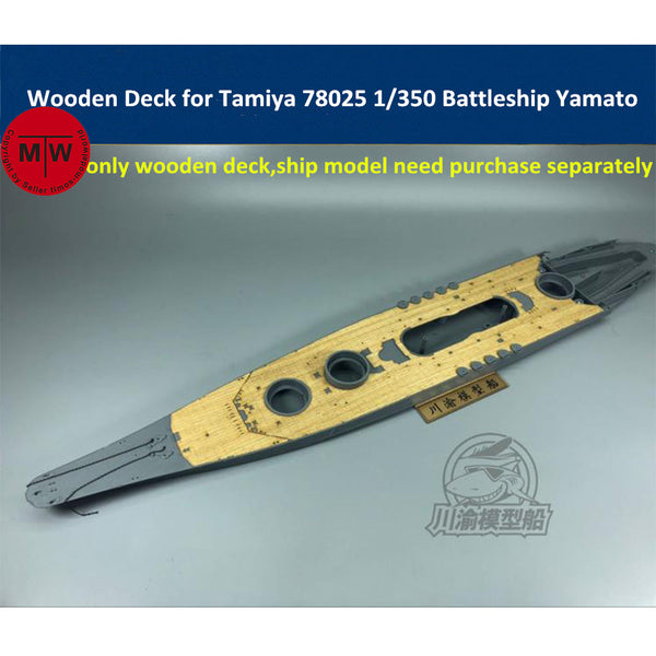 TMW 1/350 Wooden Deck for Tamiya 78025 Japanese Battleship Yamato Model