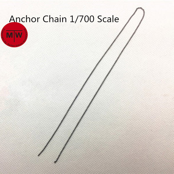 TMW 1/700 Model Ship 0.55mm Black Anchor Chain (Anchor not included)