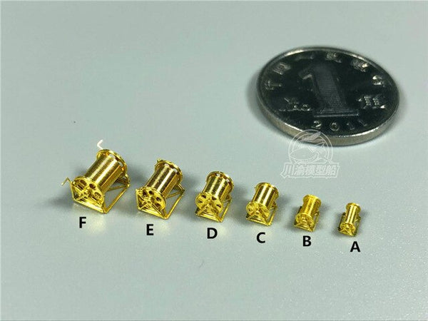 1/350 Metal Capstan Winch For Ship Models 8pcs/set