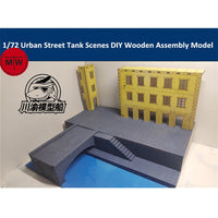 1/72 European Riverside Street Scene Diorama Wooden Kit