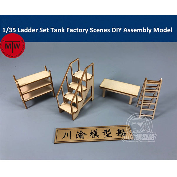 1/35 Repair Shop Ladder, Shelving And Bench Set