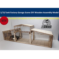 1/72 Tank Factory Garage/Repair Shop Diorama Wood Kit