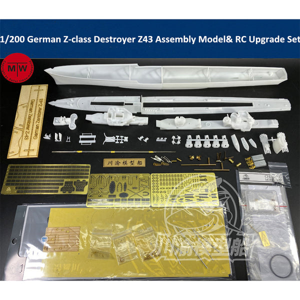 ChuanYu 1/200 German Z-class Destroyer Z43 RC Ready Ship Model TMW00086
