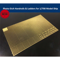 1:700 TMW Photo-Etched Handrails & Ladders for 1/700 Model Ship Kits
