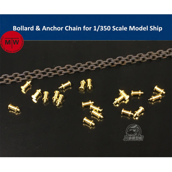 Bollard & Anchor Chain for 1/350 Model Ships
