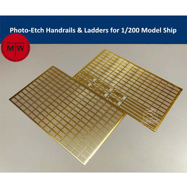 TMW 1/200 Photo-Etched Handrails & Ladders forModel Ships (2pcs/set)