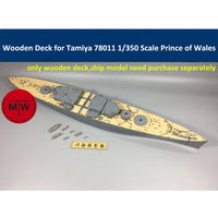 TMW 1/350 Wooden Deck for Tamiya 78011 British Battleship Prince of Wales Model
