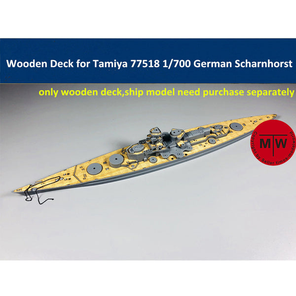 TMW 1/700 Wooden Deck for Tamiya 77518 Scharnhorst Model