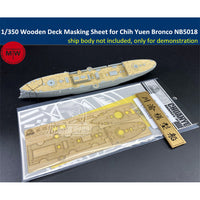 TMW 1/350 Wooden Deck Sheet for Bronco NB5018 Imperial Chinese Peiyang Fleet Cruiser Chih Yuen Model