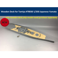 TMW 1/350 Wooden Deck for Tamiya 78030 Japanese Battleship Yamato Model