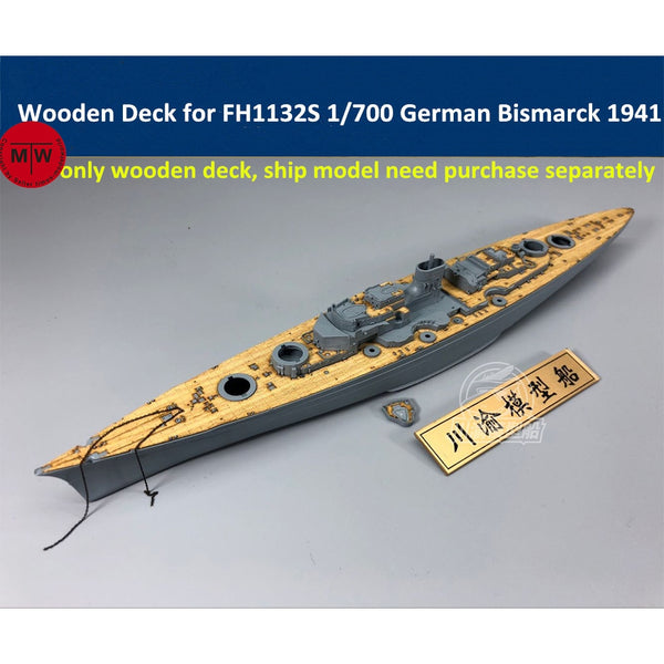 TMW 1/700 Wooden Deck for Flyhawk FH1132S German Battleship Bismarck 1941