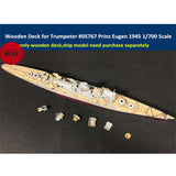 TMW 1/700 Wooden Deck for Trumpeter 05767 Prinz Eugen 1945 Ship Model