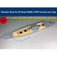 TMW 1/700 Wooden Deck for Pit-Road W200 IJN Battleship Yamato Late Type Model