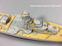 TMW 1/700 Wooden Deck for Trumpeter 05712 Germany Tirpitz Battleship 1944 Model