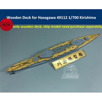 TMW 1/700 Wooden Deck for Hasegawa 49112 IJN Battleship Kirishima Model