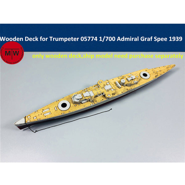 TMW 1/700 Wooden Deck for Trumpeter 05774 German Admiral Graf Spee Battleship Model