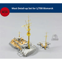 TMW Metal Mast Detail-Up Set for 1/700 Bismarck Ship Models