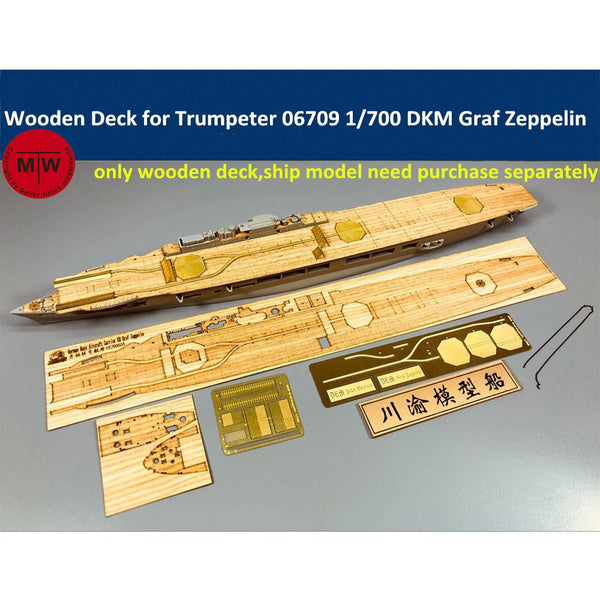 TMW 1/700 Zeppelin Wooden Deck & Detail Up Set for Trumpeter 06709 Battleship Model