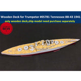 TMW 1/700 Wooden Deck for Trumpeter 05781 USS Tennessee BB-43 1941 Ship Model