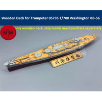 TMW 1/700 Wooden Deck for Trumpeter 05735 USS Washington BB-56 Ship Model