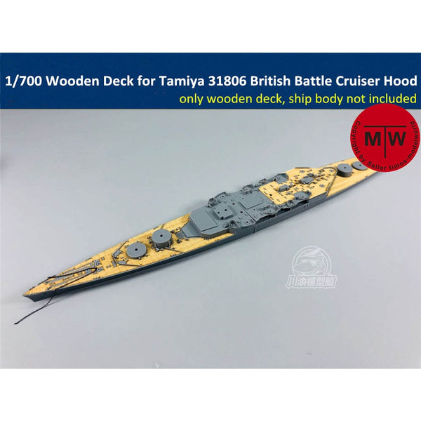 TMW 1/700 Wooden Deck for Tamiya 31806 British Battle Cruiser Hood Ship Model