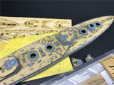 TMW 1/700 Wooden Deck & Masking Sheet for Flyhawk FH1310S HMS Agincourt Battleship Model