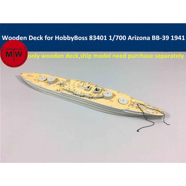 TMW 1/700 Wooden Deck for HobbyBoss 83401 USS Arizona BB-39 1941 Ship Model