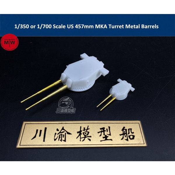 TMW US 457mm MKA Turret with Metal Barrels for Ship Models