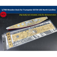 TMW 1/700 Wooden Deck for Trumpeter 05734 USS North Carolina BB-55 Model