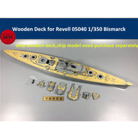 TMW 1/350 Wooden Deck for Revell 05040 Bismarck Battleship Model