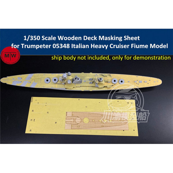 TMW 1/350 Wooden Deck Masking Sheet for Trumpeter 05348 Italian Heavy Cruiser Fiume Model