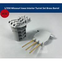 TMW 1/350 Turret details for Tamiya Missouri & Iowa Kits