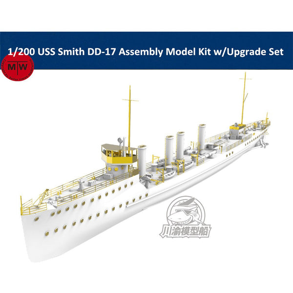 ChuanYu 1/200 USS Smith DD-17 Ship Kit w/Upgrade Set