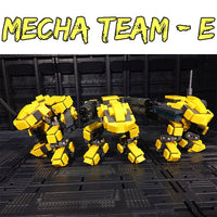 Mini Mecha Building Block Toy - Blue and Yellow Teams