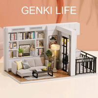 1:24 DIY Doll House Modern Lounge and Balcony Kit