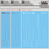 Gundam Warning Symbol Decal Sheet
