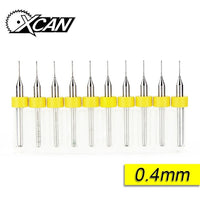 Precision Tungsten Steel Carbide Drill Bits 0.1mm to 1.2mm 10/set