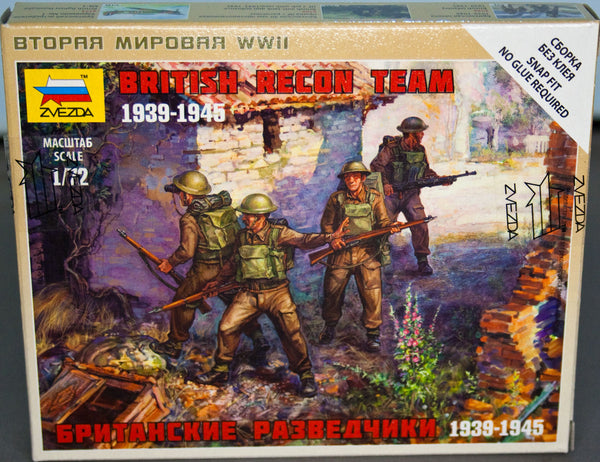 Zvezda 1:72/20mm British Recon Team