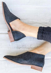Solid Pointed Toe Flats