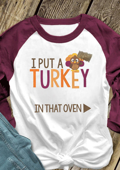 Men I Put A Turkey In That Oven T-Shirt Tee - White