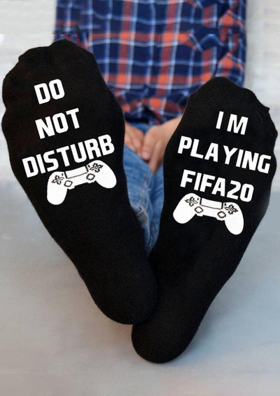 Do Not Disturb I'm Playing Fifa20 Socks