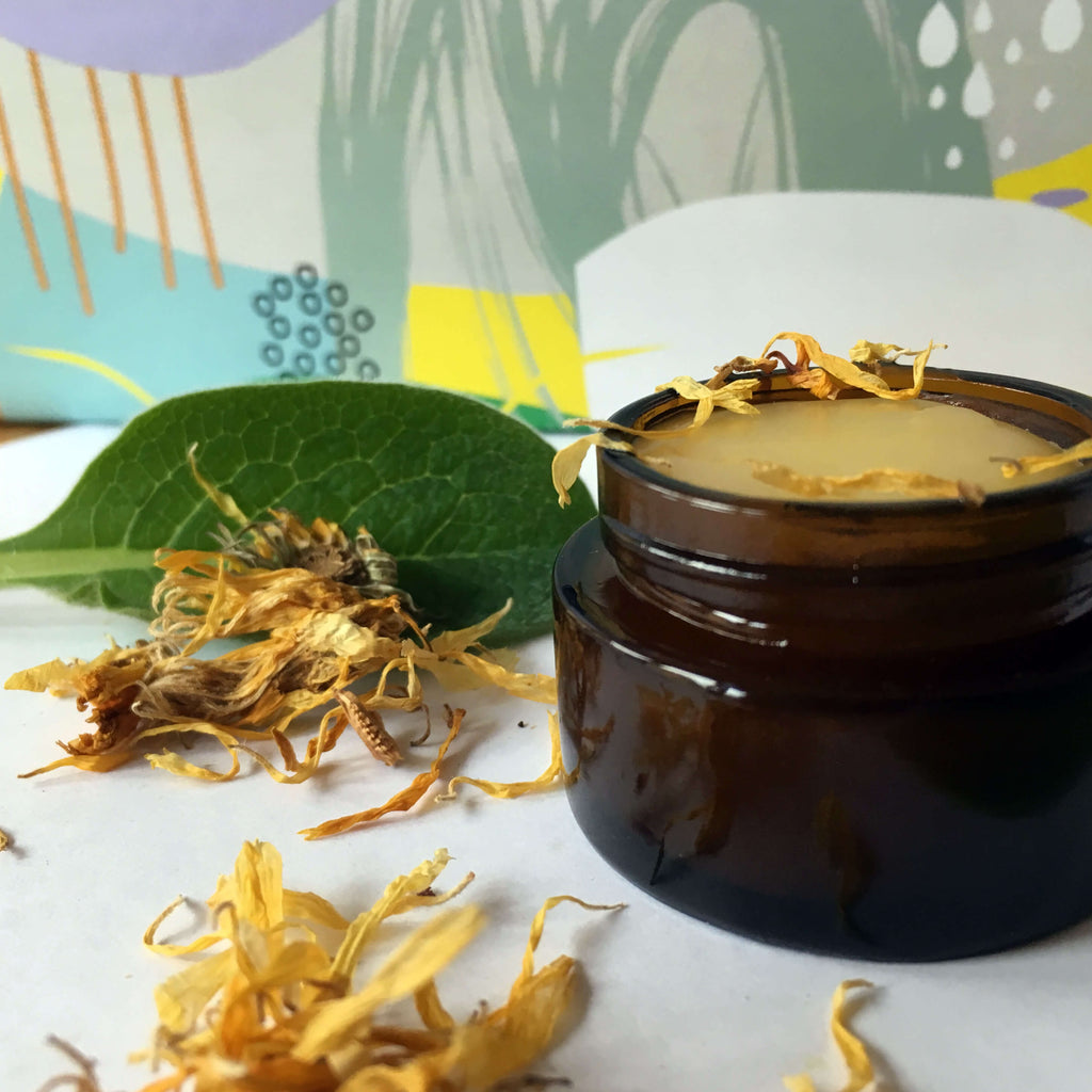 Make your own calendula comfrey ointment