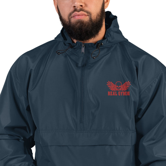 Real Gymm Embroidered Champion Packable Jacket